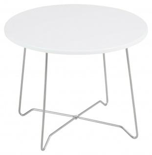 Couchtisch weiß rund 50x50 cm Sofatisch Wohnzimmertisch modern design günstig