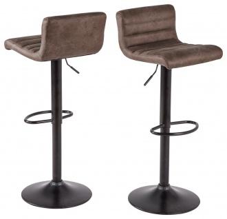 2 x moderne Barhocker Vintage dunkel Küchenstuhl Küchenhocker design Retro