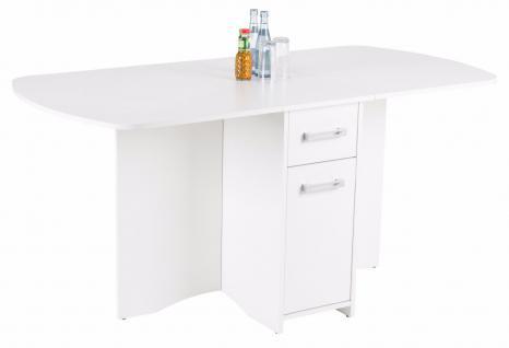 moderner Esstisch weiß klappbar design Esszimmertisch preiswert günstig neu