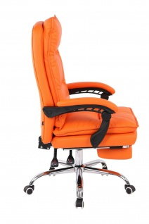 XL Bürostuhl 136 belastbar orange Kunstleder Chefsessel Computerstuhl Drehstuhl - Vorschau 3