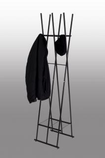 Kleiderständer schwarz Stehgarderobe mit Schuhablage modern günstig preiswert