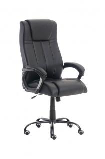 XXL Bürostuhl 150 kg belastbar schwarz Kunstleder Chefsessel schwere Personen