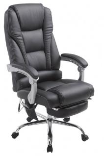 XXL Bürostuhl 150 kg belastbar schwarz Kunstleder Chefsessel Massagefunktion