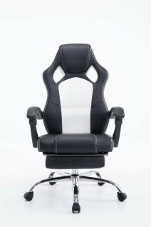 Chefsessel 115 kg belastbar schwarz weiß Bürostuhl Drehstuhl Gaming Zocker Gamer