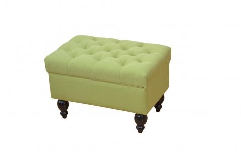moderner Polsterhocker grün Sitzhocker Hocker Bank Sitzbank Fußablage Ottomane