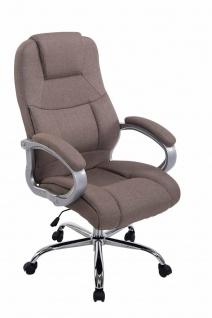 XXL Chefsessel 150 kg belastbar Stoffbezug taupe Bürostuhl hochwertig stabil