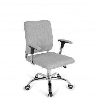 Bürostuhl Stoff hellgrau Chefsessel Drehstuhl hochwertig modern design stabil