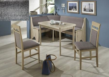 Eckbankgruppe 167x127 Eiche Sonoma/ Stoff anthrazit Essecke Sitzecke Tischgruppe