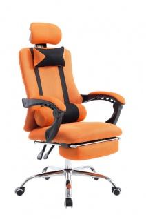 Bürostuhl orange Fußablage Chefsessel Gamer Gaming günstig stabil belastbar