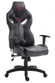 Bürostuhl 150 kg belastbar schwarz Kunstleder Chefsessel Zockerstuhl Gaming neu