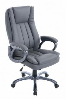 XL Bürostuhl 150 kg belastbar grau Chefsessel große schwere Personen stabil neu