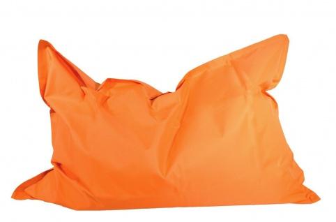 Outdoorfähiger Sitzsack orange 100x140 cm Riesensitzsack Sitzkissen Bodenkissen