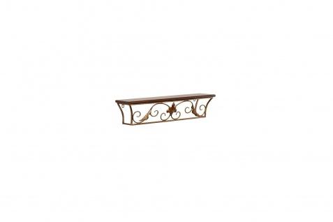 Wand-Konsole antik goldfarben 60 cm Regal Wandregal Ablage Landhausstil Eisen