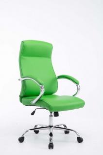 XXL Bürostuhl bis 210 kg grün edler Chefsessel modern design günstig Kunstleder