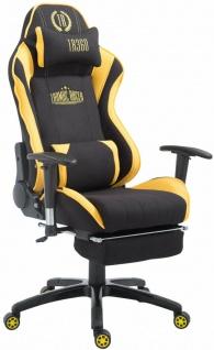 XL Bürostuhl 150kg belastbar schwarz gelb Chefsessel Fußablage Gamer Zocker