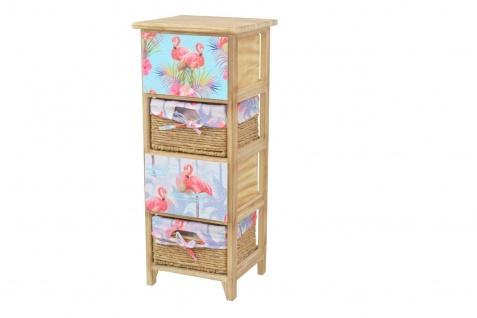 Kommode 4 Schubkästen Flamingo massivholz natur Anrichte Standregal romantisch