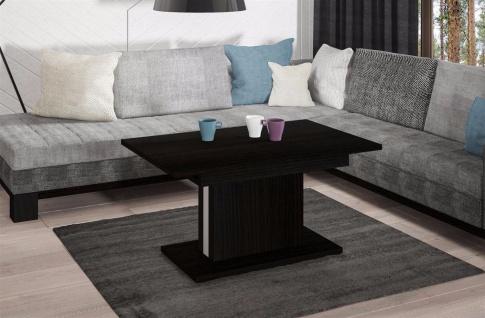hochwertiger Couchtisch Wenge Wohnzimmertisch Sofatisch design modern ausziehbar