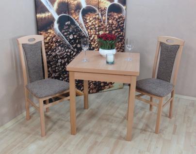 Tischgruppe massiv Buche natur Cappuccino Stuhlset Stühle Set Esstisch Tisch