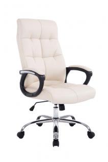 XXL Chefsessel bis 160 kg belastbar feinstes Kunstleder Bürostuhl creme günstig