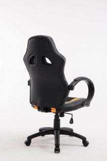 XL Bürostuhl 136kg belastbar schwarz gelb Kunstleder Chefsessel schwere Personen - Vorschau 4
