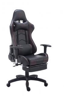 Bürostuhl bis 150 kg belastbar schwarz braun Kunstleder Chefsessel Fußstütze