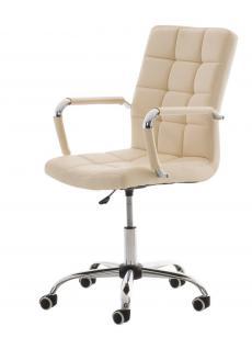 Bürostuhl creme Kunstleder Chefsessel hochwertig exklusiv günstig modern design