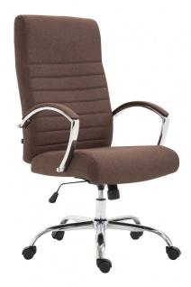 XL Bürostuhl bis 136 kg belastbar Stoffbezug braun Chefsessel hochwertig design
