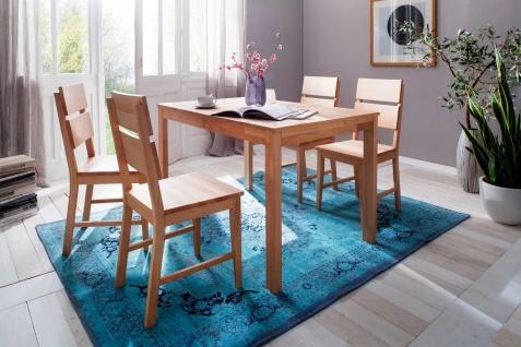 2er Set Stuhl Buche natur massiv geölt Esszimmerstuhl Stühle Stuhlset Holz neu