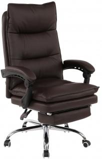 XL Bürostuhl 136kg belastbar braun Kunstleder Chefsessel Computerstuhl Drehstuhl