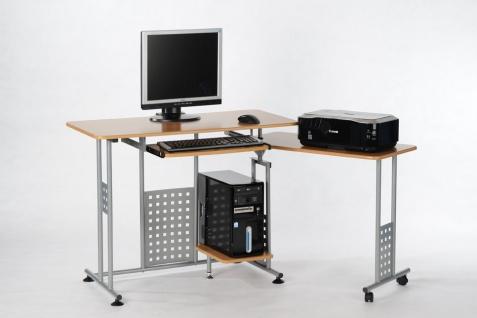 Schreibtisch Buche silber drehbar Computertisch Arbeitstisch modern günstig neu