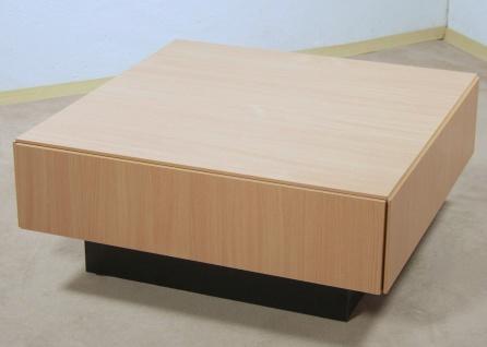 Couchtisch Buche natur Tisch Wohnzimmertisch Sofatisch Schubkasten design neu - Vorschau 2