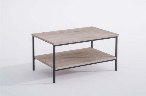 moderner Couchtisch Metall Sonoma edler Wohnzimmertisch Sofatisch design günstig