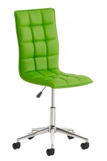 Bürostuhl Kunstleder grün Drehstuhl Arbeitshocker hochwertig modern design neu