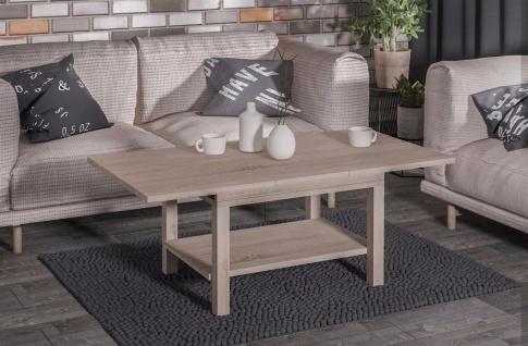 design Couchtisch Sonoma Auszug moderner edler Sofatisch Wohnzimmer günstig neu