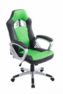 XL Bürostuhl 180kg belastbar schwarz grün Kunstleder Chefsessel schwere Personen