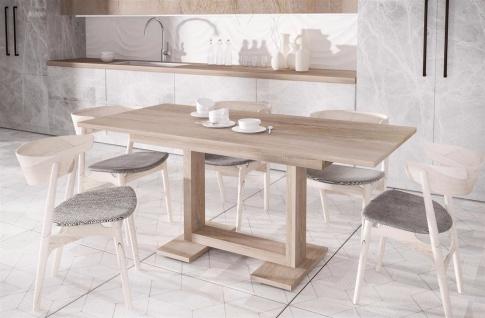 design Esstisch Sonoma ausziehbar 130-210 Auszugtisch Küchentisch günstig modern