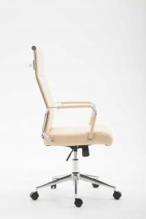 Bürostuhl 136 kg belastbar creme Kunstleder Chefsessel modern design stabil - Vorschau 3