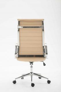 Bürostuhl 136 kg belastbar creme Kunstleder Chefsessel modern design stabil - Vorschau 4