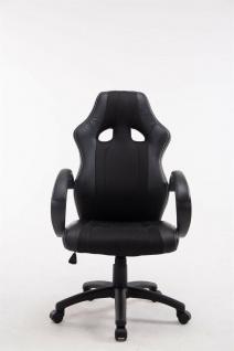 XL Bürostuhl 136 kg belastbar schwarz Kunstleder Chefsessel schwere Personen - Vorschau 2