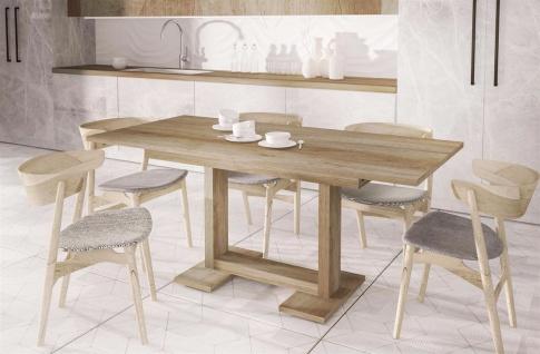 design Esstisch Eiche Monument 130-210 cm ausziehbar Auszugtisch günstig modern