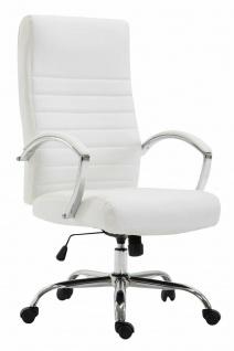 Bürostuhl 136 kg belastbar Kunstleder weiß Chefsessel Drehstuhl stabil robust