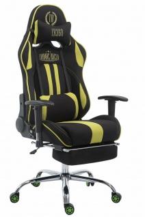 XL Chefsessel 150kg belastbar grün schwarz Bürostuhl Fußablage Gamer Zocker