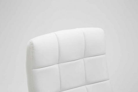 Drehstuhl bis 120 kg belastbar Kunstleder weiß Computerstuhl Schreibtischstuhl - Vorschau 5