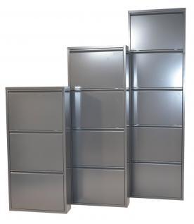 moderner Metall-Schuhschrank anthrazit 5 Klappen Schuhkipper Schuhregal design
