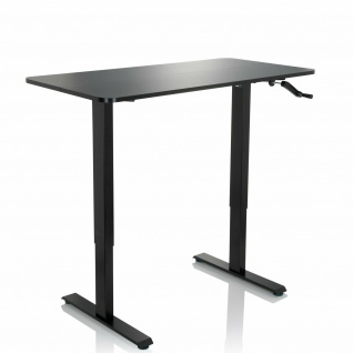 Schreibtisch 120x60 cm höhenverstellbar Computertisch schwarz Arbeitstisch NEU