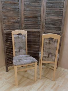 2er-Set Esszimmerstuhl massivholz Buche schoko Stuhlset Stühle modern design