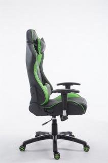 XL Bürostuhl 150 kg belastbar schwarz grün Chefsessel Zocker Gamer Gaming - Vorschau 3