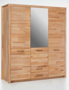 Kleiderschrank Kernbuche massiv geölt mit Spiegel Schlafzimmerschrank