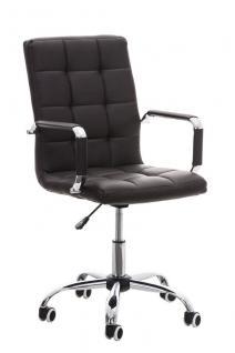 Bürostuhl braun Kunstleder Chefsessel hochwertig günstig modern design stabil