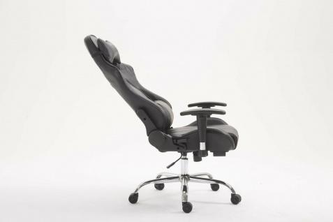 Chefsessel 150kg belastbar schwarz Kunstleder Bürostuhl Zocker Gamer Gaming - Vorschau 3